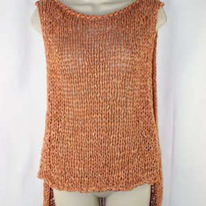 ZARA Open Knit Hi Lo Sleeveless Coachella Top